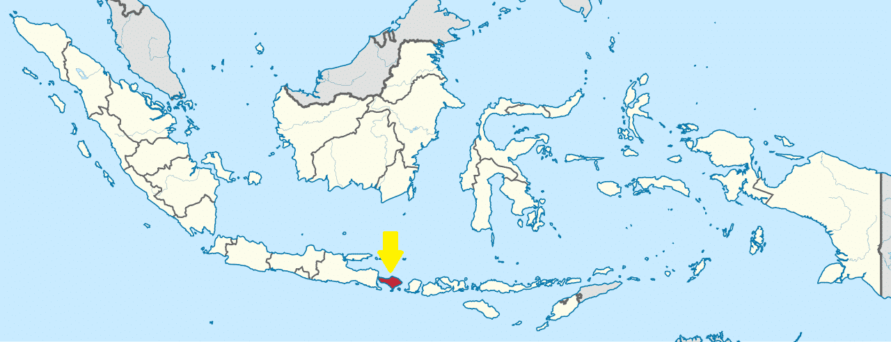 Indonesia World Map. Location Of Bali In Indonesia