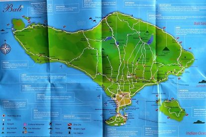 Bali Map - Indonesia & World Map, Tourist Attractions in Kuta & Surf